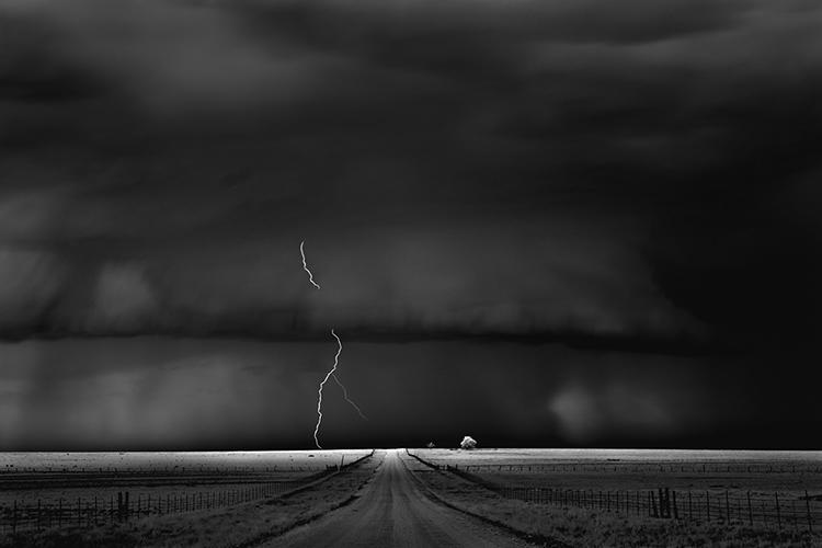 Road, near Guymon, Oklahoma, 2009 © Mitch Dobrowner